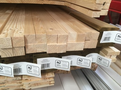 Bunnings PEFC-labelled timber